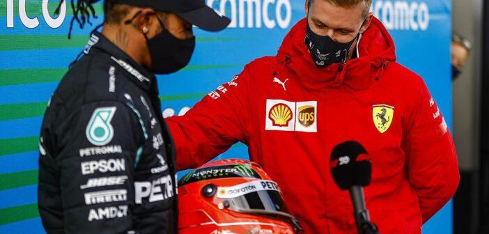 Lewis Hamilton e Mick Schumacher