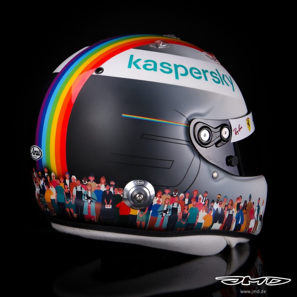 casco rainbow vettel